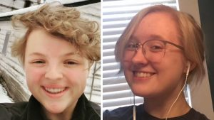 Cayden (left) and Maren (right) are debate partners and have been doing debate since middle school. They are the co-captains of Central's Debate Team.
